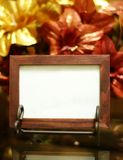 Photo frame. Empty wooden photo frame with classic shining background Stock Photography