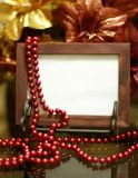 Photo frame. Empty wooden photo frame with classic shining background Stock Image