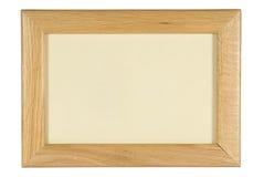 Photo frame. Solid wood photo frame on white Stock Photo
