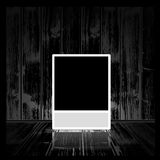 Photo frame. Vector square photo frame in dark room Royalty Free Stock Photos