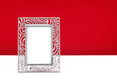 Photo frame. Looking damn good with red background Royalty Free Stock Image