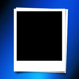 Photo frame on Abstract blue template background with bokeh ligh Royalty Free Stock Photo