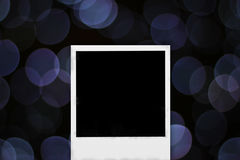 Photo frame on abstract bokeh background Stock Images