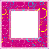 Photo frame-01. Frame with abstract colorful pattern. Grunge circles and rings. Border for photo or images vector illustration