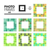 Photo frame-01. Abstract mosaic frames set isolated on white background. Templates for photo or images vector illustration
