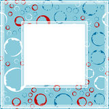 Photo frame-03. Frame with abstract pattern. Grunge circles and rings. Border for photo or images Stock Photography