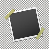 Photo frame on adhesive sticky tape Royalty Free Stock Images