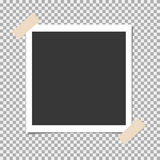 Photo frame with adhesive, sticky tape on isolate background. Template for your photo or image Royalty Free Stock Photography