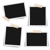 Photo Frame Adhesive Tape Collection. Collection of blank photo frames with adhesive tape, different shadow effects and empty space for your photograph and Stock Images