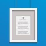 Photo frame art image  on blue bg design eps 10  Royalty Free Stock Image