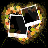 Photo frame with autumn leaves Royalty Free Stock Photo