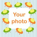 Photo frame for baby. Eps 10 Royalty Free Stock Photo