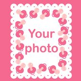 Photo frame for baby with nipples. Eps 10 Royalty Free Stock Photography