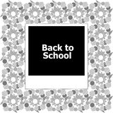 Photo frame- back to school Royalty Free Stock Image