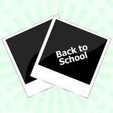 Photo frame with back to school words Stock Image