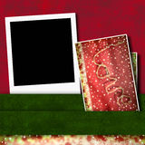 Photo frame and background love card Stock Photography