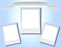 Photo Frame with Banner Stock Images