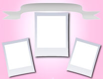 Photo Frame with Banner Royalty Free Stock Photo