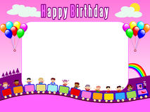 Photo Frame - Birthday [1]. Photo frame, post card or page for your scrapbook. Subject: Birthday Royalty Free Illustration