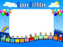 Photo Frame - Birthday [2]. Photo frame, post card or page for your scrapbook. Subject: Birthday stock illustration