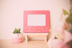 Photo frame with blank space. Stock Photo