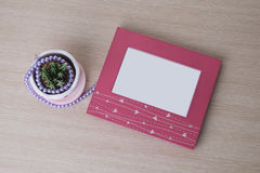 Photo frame with blank space. Royalty Free Stock Image