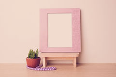 Photo frame with blank space. Stock Images
