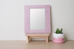Photo frame with blank space. Stock Image