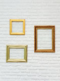 Photo frame on brick wall Stock Photos