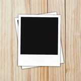 Photo frame on Brown wood plank wall texture Royalty Free Stock Photos