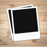 Photo frame on Brown wood plank wall texture Royalty Free Stock Photography