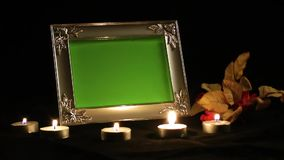 Photo Frame and Candle Light. Video stock video footage