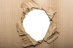 Photo frame cardboard hole isolated background Royalty Free Stock Images
