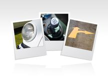 Photo frame cars Royalty Free Stock Images