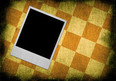 Photo frame with checkers  Royalty Free Stock Image