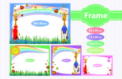 Photo frame for a child. Illustrations for design Royalty Free Stock Photo