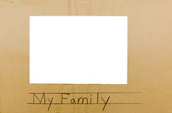 Photo frame child isolated my family Stock Image