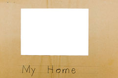 Photo frame child isolated my home Royalty Free Stock Photos