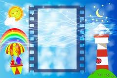 Photo Frame children s film . illustration Stock Photos