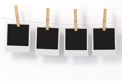 Photo Frame with clothespin Stock Photography