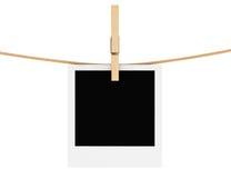 Photo Frame with Clothespin Stock Photos
