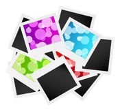Photo frame collection with bubbles or blank Stock Photography