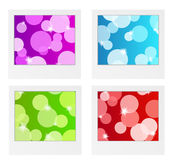 Photo frame collection with bubbles Stock Photography