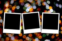 Photo frame on colorful background Royalty Free Stock Photo