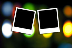 Photo frame on colorful background Royalty Free Stock Photos