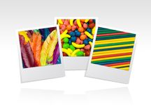 Photo frame colors Stock Image