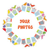Photo frame composition - funny design Royalty Free Stock Photography