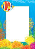 Photo frame with Coral Fish royalty free illustration