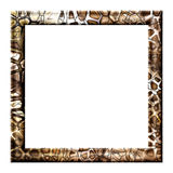 Photo frame with cracks Royalty Free Stock Photo
