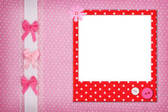 Photo frame on dots background Stock Images